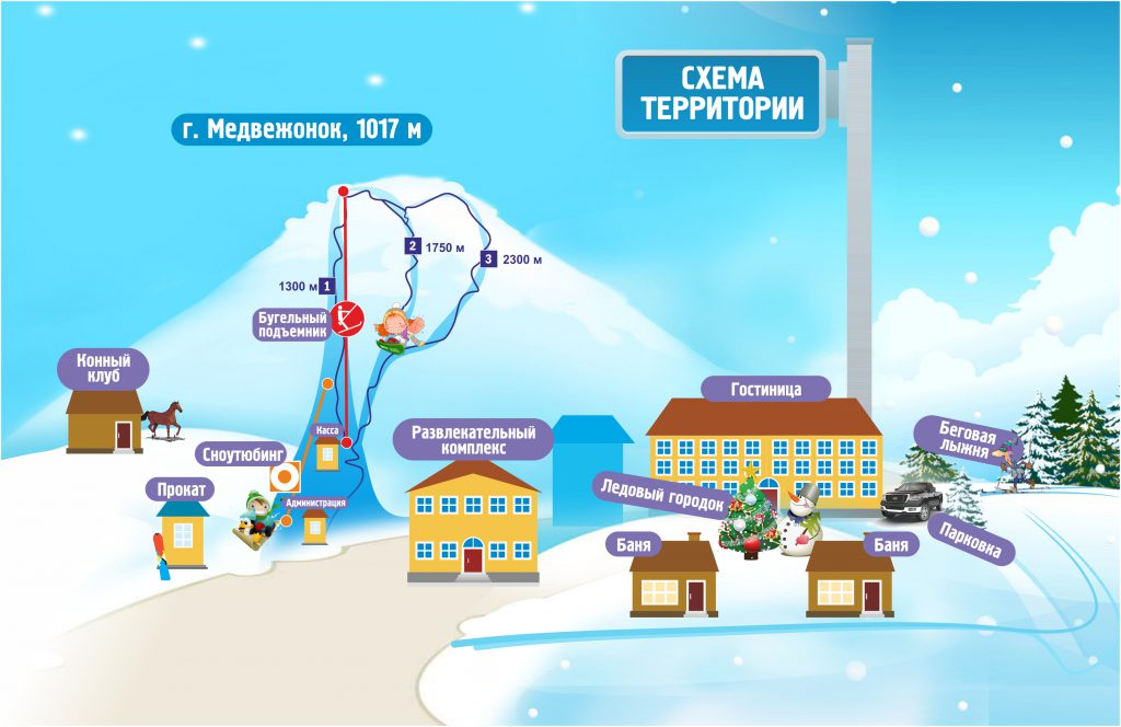 Схема курорта Медвежонок