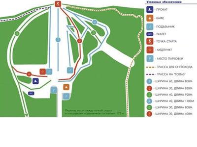 Схема курорта Мрас-Су